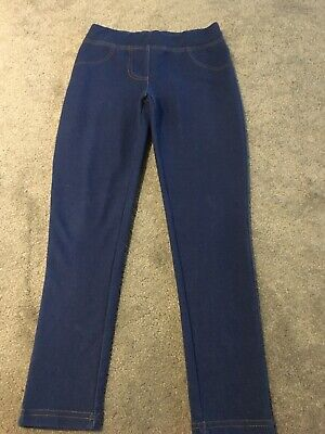 Girls Blue Trousers/jeggins Age 8-9 Years