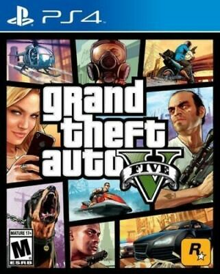 Grand Theft Auto V 5 Video Console Game GTA For Sony Playstation 4 PS4