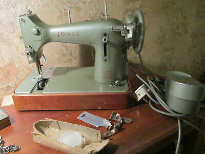 Vintage Jones Family CS-E Sewing Machine + Instructions,