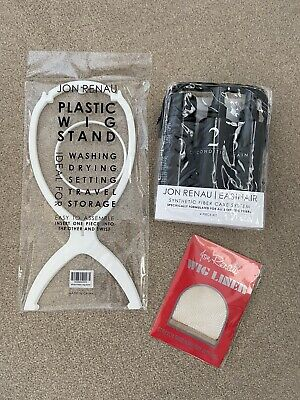 Jon Renau Mesh Wig Cap Plastic Wig Stand Synthetic Hair Care Set BN