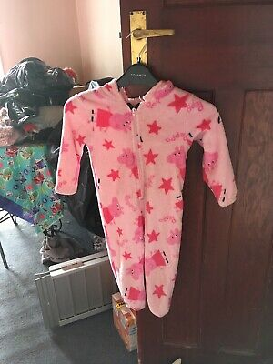 Girls Peppa Pig Fleece All In One Age 2-3 Years