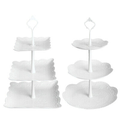 2pcs 3 Tier Cake Display Stand Plate Afternoon Tea Party Cupcake Dessert Stand