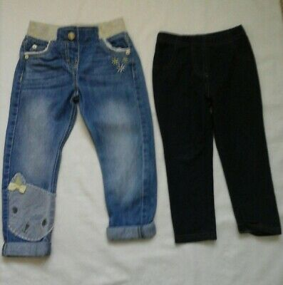 Girls Denim trousers and jeggins  age 2-3 years