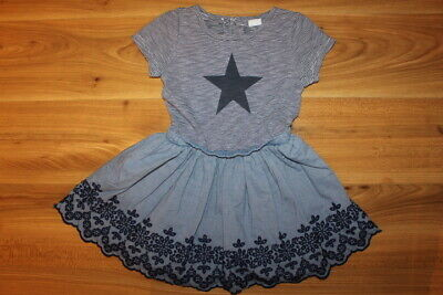 NEXT girls summer STAR dress 3-4 years *I'll combine postage*(106)
