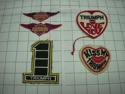 TRIUMPH (5) VINTAGE MOTORCYCLE jacket jeans coat PATCH DKP-10