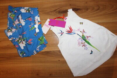 TED BAKER girls summer outfit 3-4 years NEW *I'll combine postage*(124)