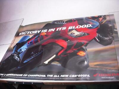 Honda Cbr600F4 600 Victory Is In Its Blood Motorcycle Poster Used Po-239