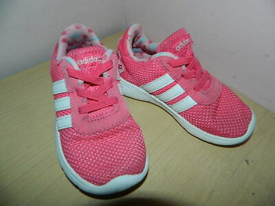 infant Adidas Crown themed pink textile slip on shoes trainers uk 7.5 eur 25