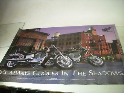 It's Always Cooler In The Shadows Honda Motorcycle Poster Used Po-238
