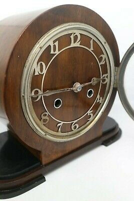 Vintage 1930's Art Deco Westminster Chimes Clock By Norland Clock Co