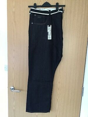 Firetrap Mens Black Jeans With Belt W50 L 31 New with tags
