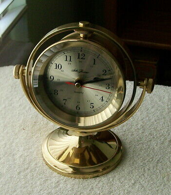Vintage Seth Thomas Brass Scooner Clock #1044 Nautical