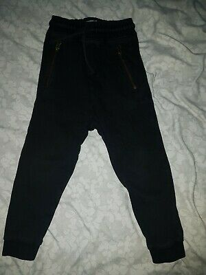Boys Next Age 5 Black Joggers Bottoms Trousers