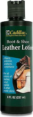 Cadillac Boot & Shoe Care Leather Lotion/Conditioner 8 oz (1 bottle)