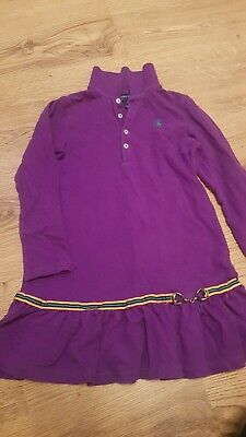 Girls Ralph Lauren Long sleeve Size 6x Age 6-7yrs Purple Polo Dress