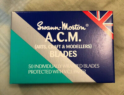 50 x Genuine Swann Morton No 11 ACM - Arts, Craft & Modellers Blades Made in UK