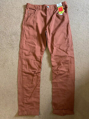 Boys George Rust Brown Chinos - Age 12-13 Years (152-158cms)