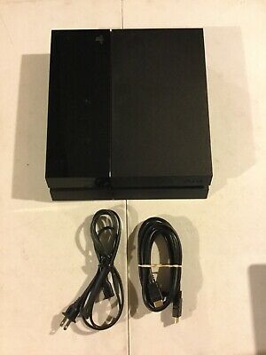 Sony PlayStation 4 500GB Console Only - Jet Black with Power Cable & HDMI Cable
