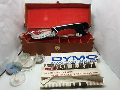 Vintage Dymo typewriter M-29 Made in usa Like Nu excellent condition