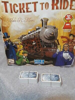 Ticket to Ride Board Game Replacement Parts GAME CARDS MINT STILL SEALED