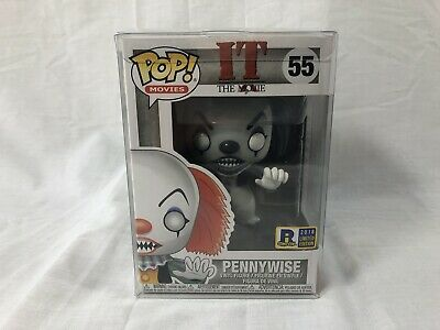 FUNKO POP! 55 Pennywise Black & White Rhode Island Comic Con 2018 IT The Movie