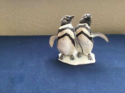 Kaiser Germany Vintage Porcelain Two Penguins  No. 605 Hand painted.