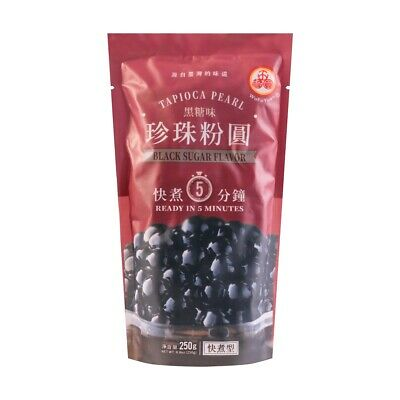 Tapioca Pearl Black Sugar Flavor 250 g for Boba Bubble Tea Drink Wufuyuan
