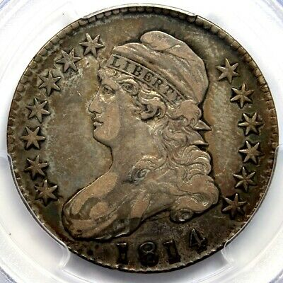 1814 50C CAPPED BUST , PCGS VF30, Overton10  CAC Green Label