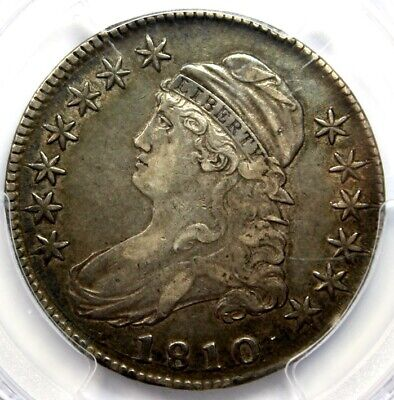 1810 50C CAPPED BUST , PCGS XF 40, CAC Green Label