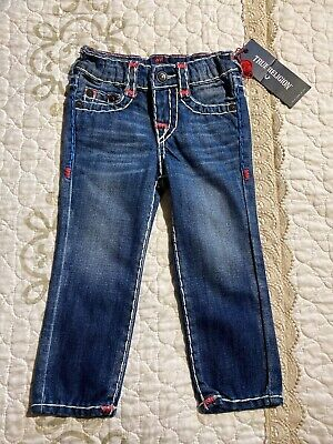 🎼NWT BOYS TRUE RELIGION Toddlers Size 2 T GENO 4TH OF JULY SUPER T JEANS #9