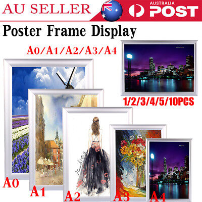 A1 A2 A3 A4 Aluminium Poster Holding Frame Picture Display Holder Poster Frame