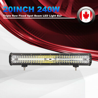 20Inch Triple Row LED Light Bar 248W Spot Flood Auxiliary Offroad Driving Lights