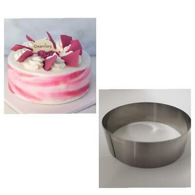 """Lot of two (2) New Commercial  Heavy Duty 8"""" x 2"""" Stainless Steel Cake Ring"""
