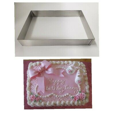 Lot of two (2) New Commercial Heavy Duty Stainless 1/4 quater Sheet Cake Molds