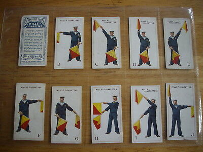 Cigarette Card Set (50) Signalling Series W.D.& H.O. Wills Issued 1911 Navy Ship