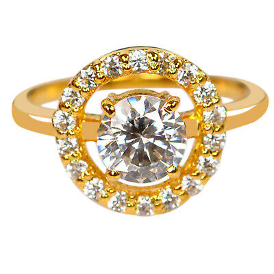 14KT Solid Yellow Gold D-Color 2.00 Carat Round Shape Solitaire Engagement Ring