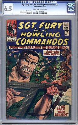 Sgt Fury & His Howling Commandos #23 - CGC Graded (6.5 FN+) 1965 - Silver Age
