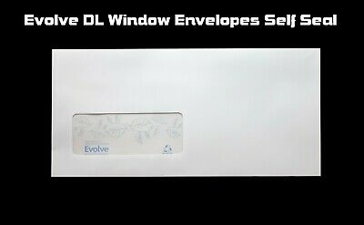 White DL Envelopes Self Seal With Window 90gsm 110 x 220mm