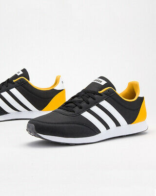 Adidas Chaussures sportif Sneakers Shoes Sport V RACER 2.0 Homme Noir Jaune