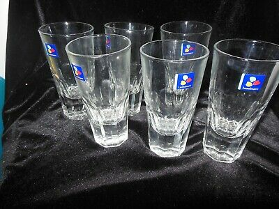 "Luminarc Heavy Tall Shooter Glasses Holds 4 Oz 5"" tall Set 6 NWT RARE"