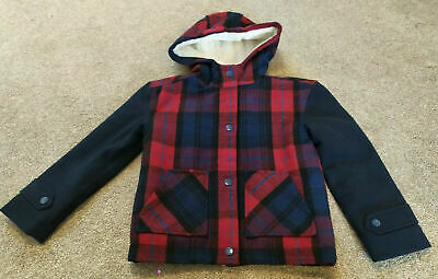 Mini Boden Johnnie B Wool Tartan Checked Jacket Age 9-10 Years TD002 DD 02