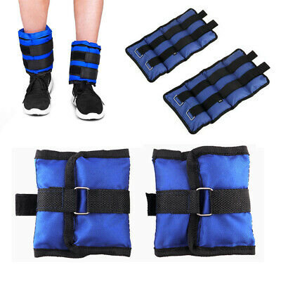2pc Ankle Wrist Weights Adjust Leg Wrist Straps Running Training Fitness Gym 6KG