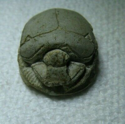 Ancient Scarab 7/8 X 5/8 Inches Egyptian Style Time Period Unknown Read!!!