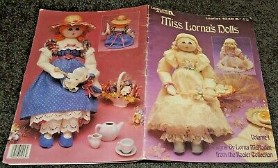 Miss Lornas Dolls 4 Soft Cloth Pattern Booklet Girls Clothes Pretty Dresses Easy