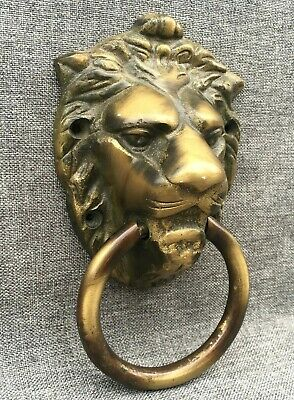 Antique french door knocker made of bronze lion head 1930-40's castle mansion