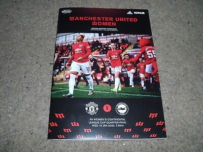 Manchester United Women V Brighton & Hove Albion Continental Cup 15Th Jan 2020