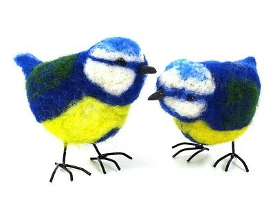 Blue Tit Needle Felting Kit by The Makerss - makes 2 blue tits with legs