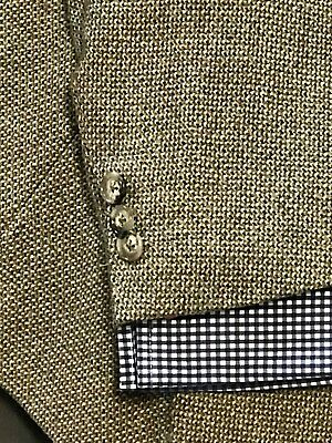 CANALI Mens Sport Coat Jacket Blazer 44L MADE IN ITALY 2 Button WOOL CASHMERE