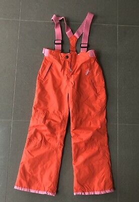 New Boden Ski Pants 9-10yrs All Weather Waterproof Trousers Orange 140cms