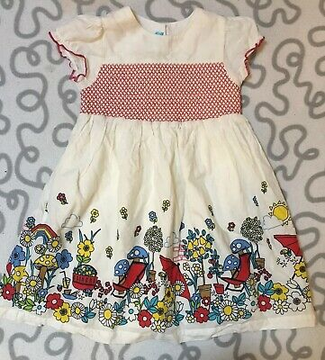 Little Bird Jools Oliver Girls Dress Age 2-3 Years Retro 70s Pattern Rainbow